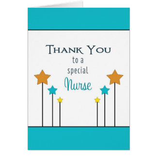 Nurses Day Greeting Card with Stars