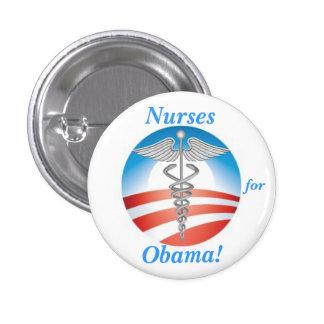 Nurses for Obama! 3 Cm Round Badge