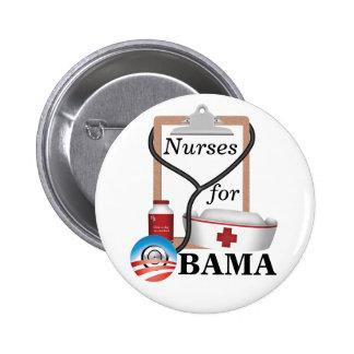 Nurses for Obama! 6 Cm Round Badge