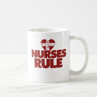 Nurses Rule Basic White Mug