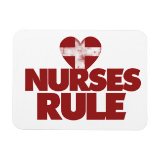 Nurses Rule Rectangular Photo Magnet