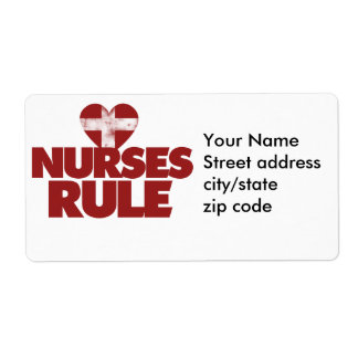 Nurses Rule Shipping Label