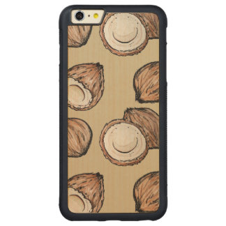 Nuts for Coconut Pattern Carved® Maple iPhone 6 Plus Bumper Case