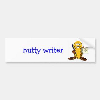 nutty writer bumper sticker