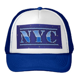 NYC New York City Sparkle Hearts Trucker Hat