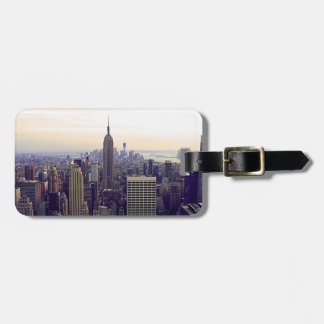 NYC skyline Empire State Building, WTC 4 Travel Bag Tag