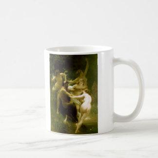 Nymphs and Satyr by William Adolphe Bouguereau Basic White Mug