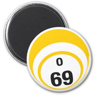 O 69 bingo ball fridge magnet