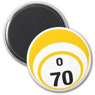 O 70 bingo ball fridge magnet