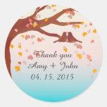 Oak tree lovebirds heart confetti sticker love1