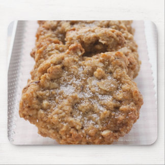 Oat biscuits on plate mouse pad