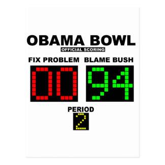 Obama Bowl - Official Scoring Postcard