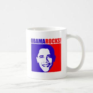 Obama Rocks! Basic White Mug
