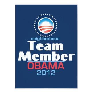 Obama TEAM 17 Cm X 22 Cm Invitation Card