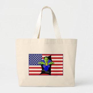 Obama vs America Jumbo Tote Bag