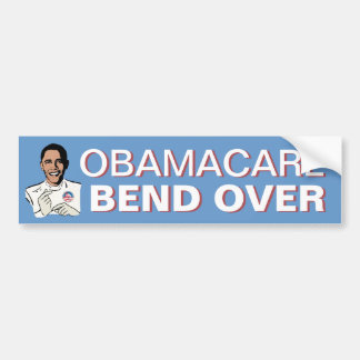 Obamacare Bend Over Bumper Sticker