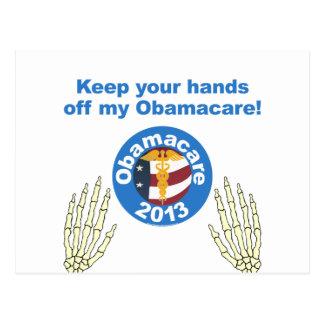 Obamacare Hands off my Obamacare Postcard