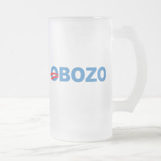 Obozo Obama Frosted Glass Mug
