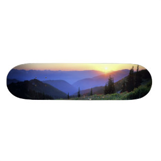 Obstruciton Point Sunset, Olympic NP, WA, USA 21.6 Cm Old School Skateboard Deck