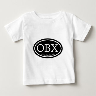 OBX Outer Banks Black Oval T Shirt