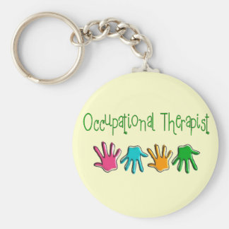 Occupational Therapist Gifts Basic Round Button Key Ring