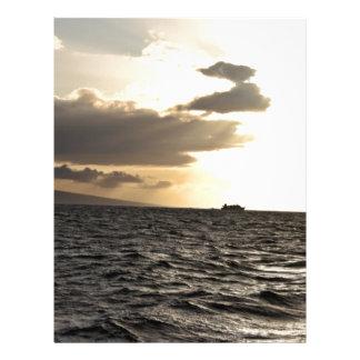 Ocean at Sunset 21.5 Cm X 28 Cm Flyer