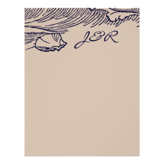 Ocean Breeze   Rustic Beach DIY Envelopes Liner 21.5 Cm X 28 Cm Flyer