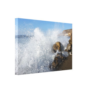 Ocean Splash Half Moon Bay Canvas Print