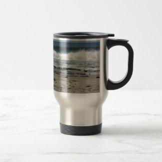 Ocean wave stainless steel travel mug