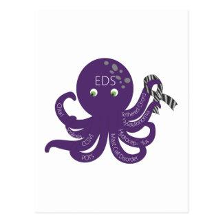 Octopus White Back Ground Postcard