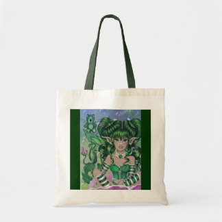 """Ode to Green Bear"" fairy art TOTE BAG"