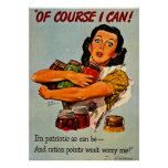 Of Course I Can! Vintage WWII Propaganda Poster