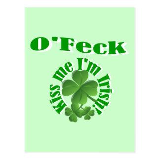 O'Feck, funny Irish surname Postcard