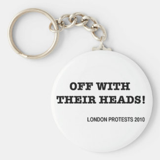 Off With Their Heads Basic Round Button Key Ring