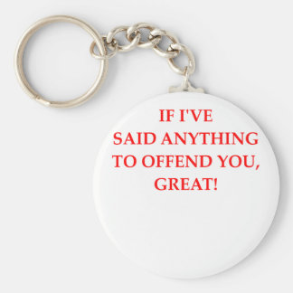 offend basic round button key ring