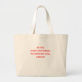 offend jumbo tote bag