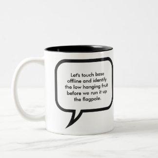 Office Manager Jargon Two-Tone Mug