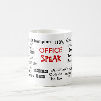 Office Speak Management Jargon and Cliches Basic White Mug
