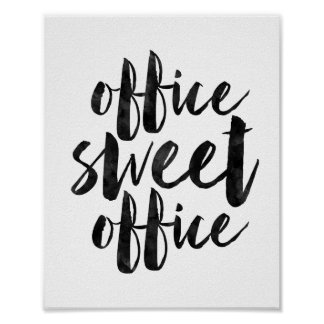 Office Sweet Office Poster