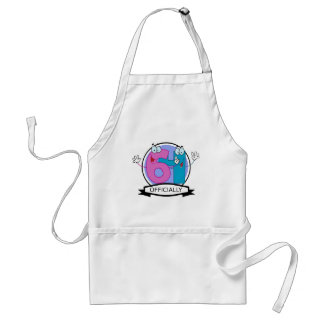 Officially 64 Birthday Banner Standard Apron
