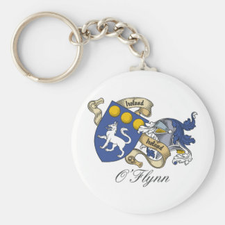 O'Flynn Family Crest Basic Round Button Key Ring