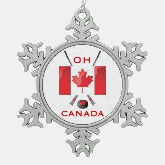 OH CANADA PEWTER SNOWFLAKE DECORATION