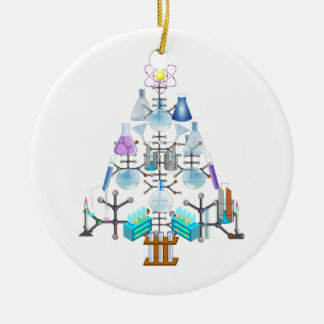 Oh Chemistry, Oh Chemist Tree Round Ceramic Decoration