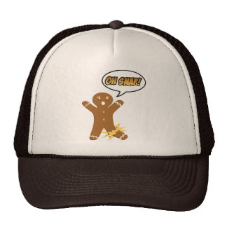 Oh Snap! Funny Christmas Gingerbread Man Cap