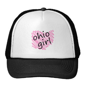 Ohio Girl with Scribbled Ohio Map Cap
