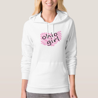 Ohio Girl with Scribbled Ohio Map Hooded Pullovers