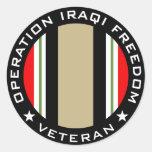 OIF Veteran Round Sticker