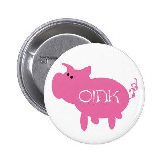 Oink Pink Pig 6 Cm Round Badge