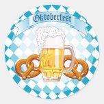 Oktoberfest Pretzels & Beer Round Sticker
