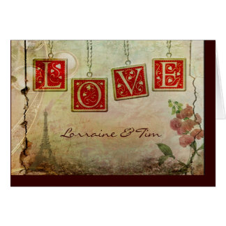 Old fashioned love greeting card